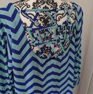HeartSoul Dresses - Hearsoul Plus Chevron Strappy Back Dress XL